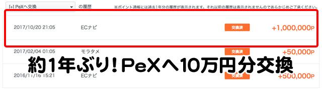 ECナビからPeXへ交換